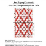 Red Zigzag Diamonds Chart